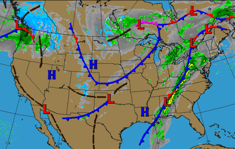 Us Weather Map Us Weather Forecast Map Current Weather Map Us Front Map